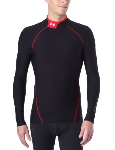Under Armour UA CG Team Mock Top de compression homme Noir S