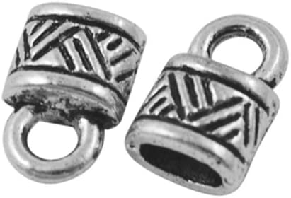 Wholesale Long Beach Mall Metal Alloy End Caps Indianapolis Mall Antique Silver Oval 10 Pa x 2 4mm