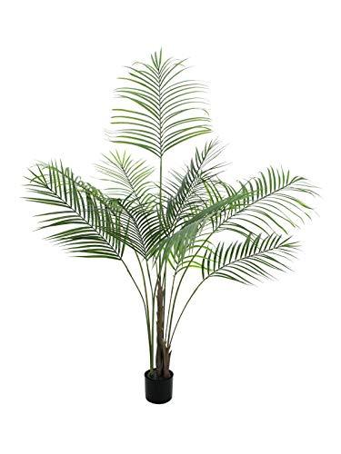 artplants.de Deko Großblatt Arecapalme, 185cm, wetterfest - Kunstpalme - Künstliche Areca Palme