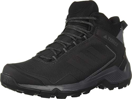 adidas outdoor Men's Terrex EASTRAIL MID GTX Hiking Boot, Carbon/Black/Grey Five, 12.5 D US