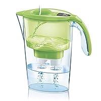 laica j31ab stream line caraffa filtrante, filtro bi-flux incluso, verde/trasparente