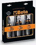 BETA 1169G/D3 Assortiment universel, 1 pince bec demi-rond long et 1 coupe-vent, avec 2 couches de PVC antidérapant avec finition industrielle
