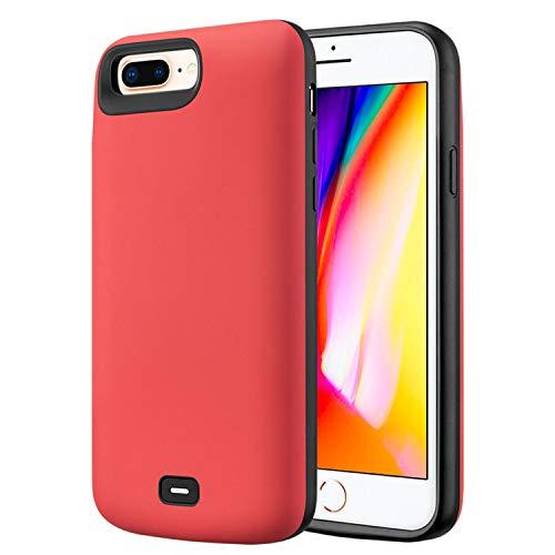 HQXHB Funda Batería para iPhone 6/6S/7/8,5500mAh Funda Cargador Portatil Batería Externa Ultra Carcasa Batería Recargable Power Bank Case para Apple iPhone 6/6S/7/8 [4.7 Pulgadas]- Rojo
