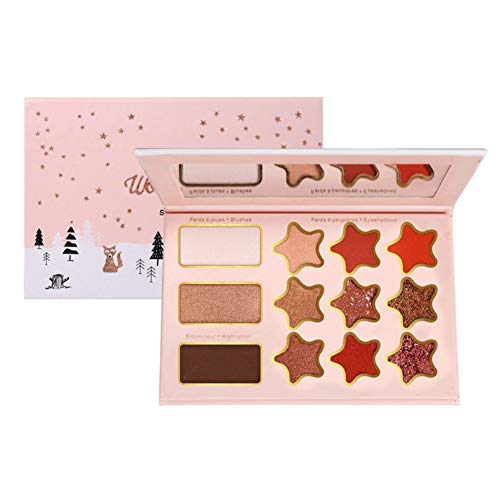 Palette de Fards à Paupières, 12 Couleurs Matte Shimmer Glitter Multi-Reflective Shades Teint Ultra Pigmenté Maquillage Ombre à Paupières