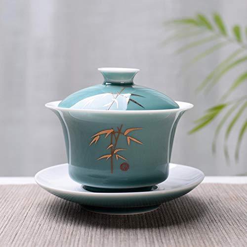 Tea Tureen 150ml Kungfu Set, Kung Fu Flor Gaiwan Puer Kettle, los Amantes de la Tetera Deben Tener