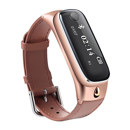 OOLIFENG Orologio intelligente Sport Smartband Cuffie Bluetooth 4.0 Fitness Tracker per il telefono Android di IOS