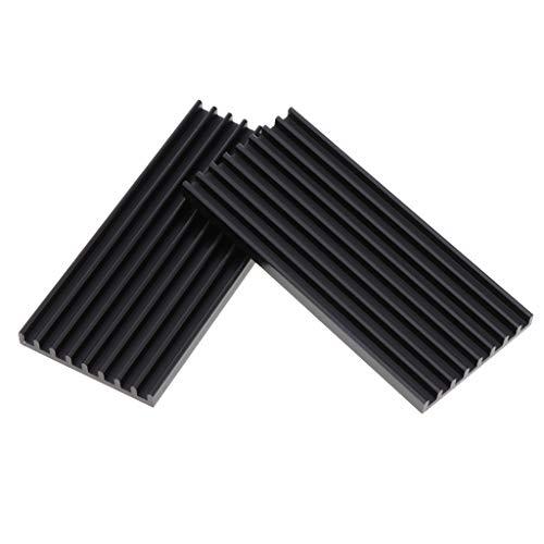 KESOTO 2 Teiliges Kühlmodul, 77,8 X 35 X 5 Mm Aluminium Kühlkörper, Kühlkörper, Kühlrippe Für Hochleistungs LED, Verstärker, Grafikkarte, Transistor