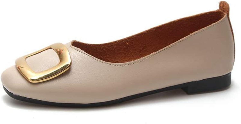Phil Betty Women Flats shoes Square Toe Soft Soles Solid color Comfort Dress Flats shoes