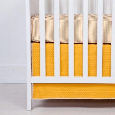 Flink Organic Crib Skirt in Sunshine by Flink