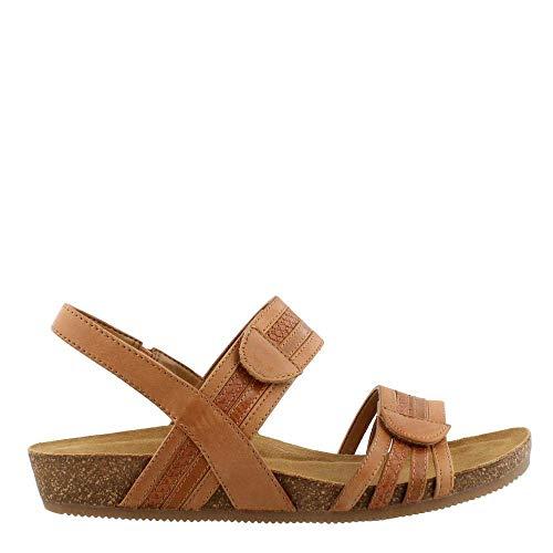 Comfortiva Women's, Gabrielle Low Heel Sandals TAN Multi 6.5 M