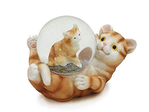 Euro Souvenirs Glitzerkugel Katze Schneekugel Tier Tiere Schneekugeln Kätzchen Katzen