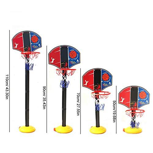 Juego de Baloncesto en Miniatura Ajustable portátil, Juego de Deporte al Aire Libre en Miniatura de Baloncesto de Juguete, Fitness al Aire Libre