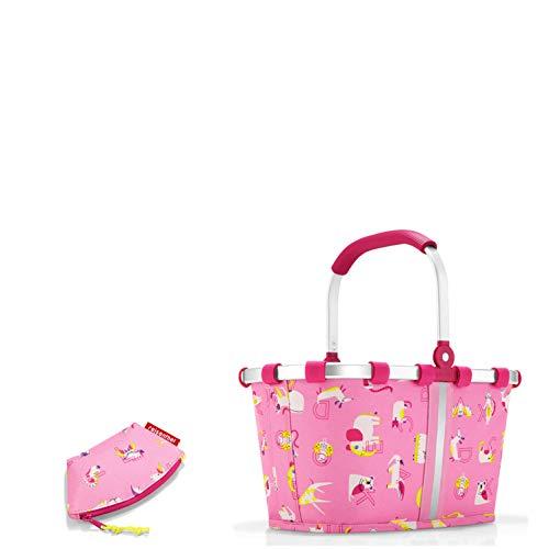 reisenthel Kinder Einkaufskorb/carrybag XS + kleine Tasche (coinpurse ABC Friends pink)