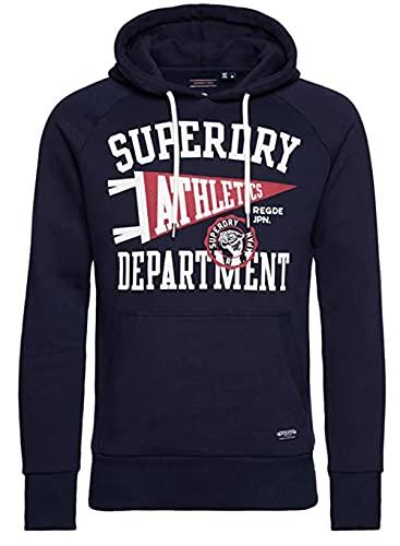 Superdry Mens Mascot Varsity Overhead Skateboarding Hoodie, Nautical Navy, L