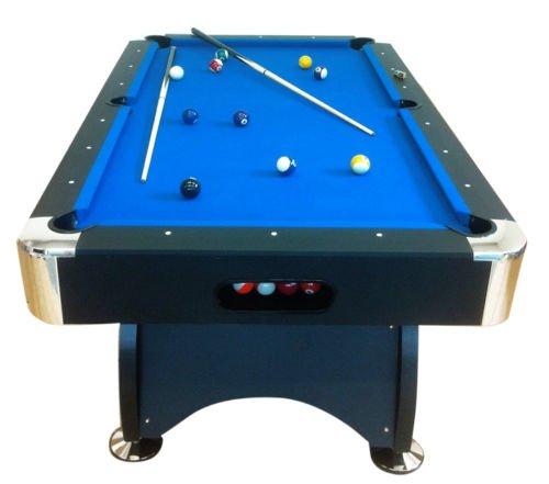Billardtisch Pool Billard Tisch blau mit Zubehör robust 145 kg 7 ft
