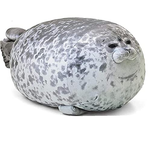 Chubby Blob Sello Almohada, Gracioso Agosto De Juguete De Felpa De Algod¨n Los Animales De Peluche Almohada Linda Plushie Pillow 40 Cm