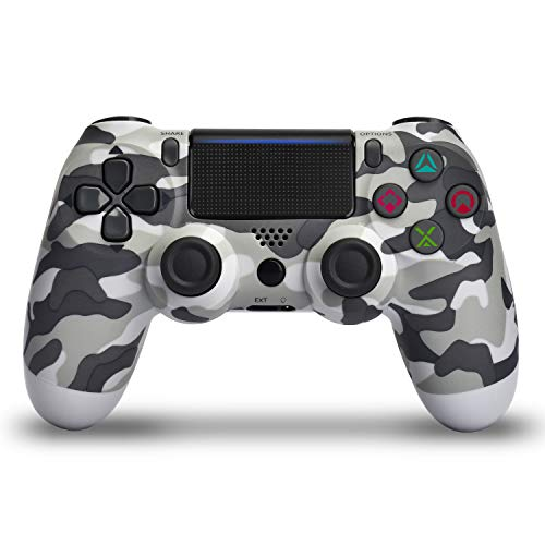 Wireless Controller for PS4 - Remote Joystick for Sony Playstation 4 with Charging Cable and Double Shock (Gray Camouflage,2019 New)