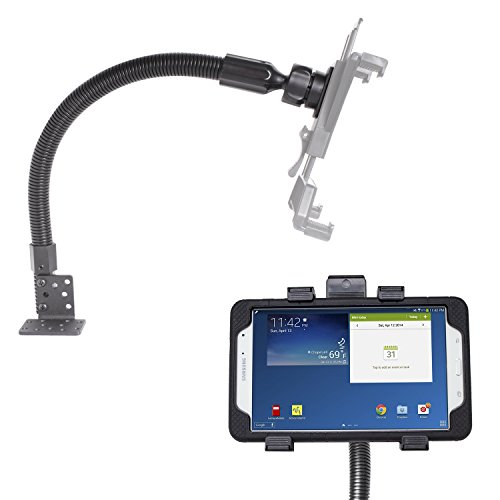 "iBOLT TabDock Flexpro - Heavy Duty Floor Mount for All 7"" - 10"" Tablets (iPad, Nexus, Samsung Galaxy Tab) for Cars, Vans, Large Trucks : Great for Telematics and Fleets"