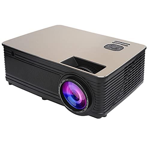 """Mini Proyector, Proyector de Portátil con 30.000 Horas de Vida útil de la Lámpara LED, Proyector WiFi 1080P Compatible con Pantalla de Proyector de 120 """", Compatible con HDMI, VGA, AV, USB(Negro)"""