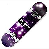 31'' 80CM Starry Sky New Sealed Kids Beginner Skateboard Light Up Wheel Skynet