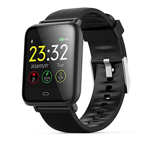 Dvzo Dream Sport Smart Watch - Fitness Tracker Bracciale Sportivo Impermeabile per Android/iOS Phone Heart Rate Monitor Pressione sanguigna per Bambini Uomini e Donne,Black