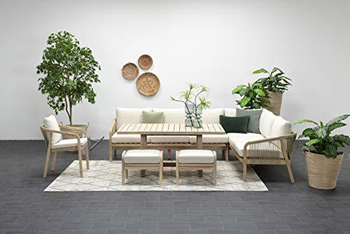 Garden Impressions Hohe Dining Lounge Santos, inklusive wasserabweisender Kissen und XXL Tisch