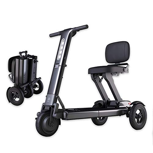 N/Z Life Equipment Scooter eléctrico de Movilidad de Servicio Pesado Plegable y portátil Scooters de Movilidad con Motor de 3 Ruedas Silla de Ruedas Batería Doble y Motor de Largo Alcance