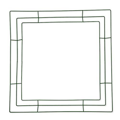 æ— 4 Pieces Metal Wreath Frame Ring Square DIY Macrame Floral Crafts Wire Wreath Form Perfect for Macrame,Dreamcatcher,Embroidery,Wreaths and More