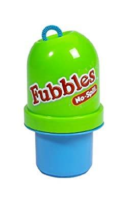 Little Kids Fubbles No-Spill Tumbler Includes 4oz Bubble Solution and Bubble Wand (Tumbler Colors May Vary) from Little Kids