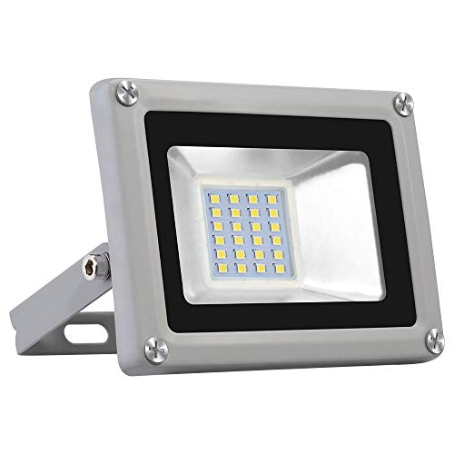 Viugreum Focos LED Exterior 20W, Floodlight Led 2000LM 6500K(Blanco Frío), Iluminación interior exterior Impermeable IP65, Foco LED para Jardín, Fábrica[Clase de eficiencia energética A]