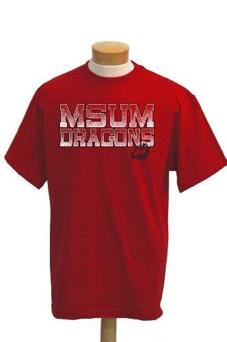 NCAA T-Shirt Minnesota State Moorhead Dragons Acho Short Sleeve, Herren, rot, Large