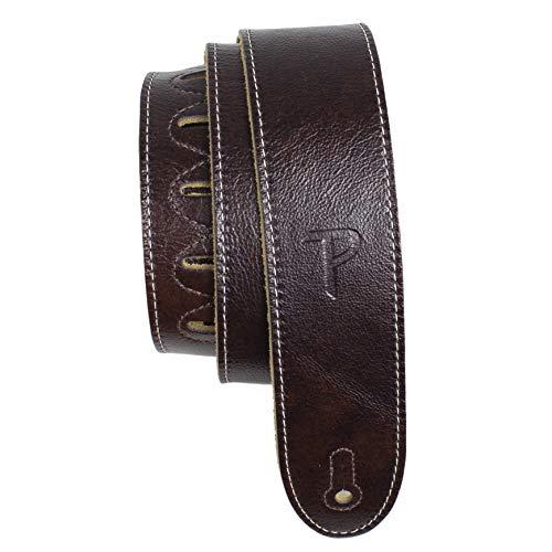 Perri's Leathers Guitar Strap (EM2-6698-XL), Mahogany, Extra Long
