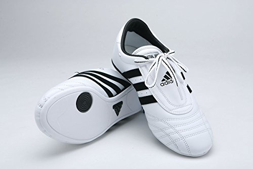 adidas Sm II Training Martial Arts Leather Shoes (White, 11.5)
