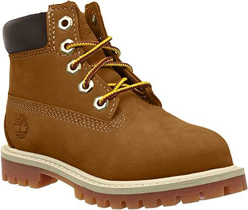 Timberland Unisex-Kinder 6-Inch Premium Waterproof Boot Klassische Stiefel, Braun (Rust Nubuck), 39 EU