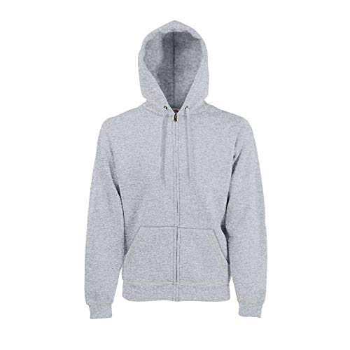 Fruit of the Loom - Hooded Sweat Jacket - Modell 2013 XL,Heather Grey