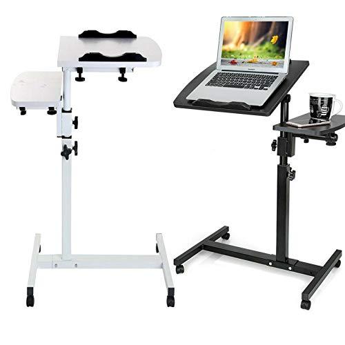 Xinng Escritorio de ordenador PC Mesa de ordenador portátil para cama, sofá, mesa, escritorio, escritorio, escritorio, estudio, lectura, altura ajustable de 65 a 95 cm, color blanco