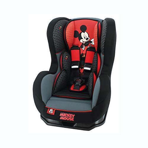 nania Seggiolino Auto Cosmo - Gruppo 0/1 (0-18kg) - Produzione Francese 100% - Protezioni Laterali - Disney Luxe Mickey