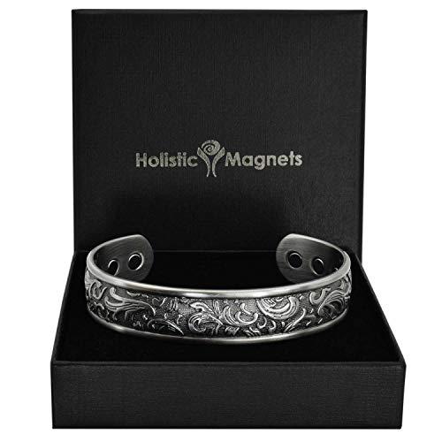 Holistic Magnets® Magnetisches Armband Damen Kupfer Armband (Anlauffarbenfrei) Originelle Geschenkideen für Frauen Handgelenk Gelenkheilung Armband +Geschenkbox–PP (M: Handgelenk 16,5-19,5cm)