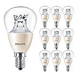 Philips Master Lot de 10 ampoules LED transparentes 6 W (40 W) DimTone E14 SES Petit culot à vis Edison 2200 K – 2700 K | 470 lm | 25 000 heures | 929001140602 | Désodorisant pour voiture