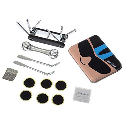 OUTERDO パンク修理 自転車 パンク修理 キット マウンテンバイク 携帯用 タイヤ パンク対応 笑顔型