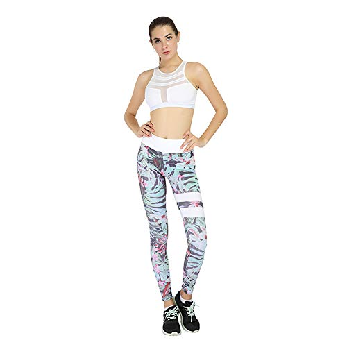 Fliegend Damen High Waist Leggings Elastisch Yoga Hose Druck Jogginghose Frauen Leggins Push Up Fitnesshose Sporthose Laufenhose