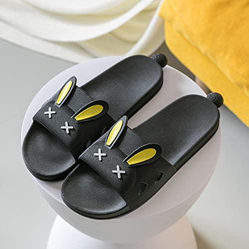 TTFF Chanclas de Playa Zapatos de Piscina,Zapatillas de casa Suaves, Sandalias con Plataforma de PVC-Negro 2_40 / 41,Zapatillas de Estar por Casa de Mujer