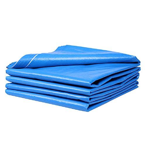 GEF Lona Impermeable, toldo de Lona con Dosel Toldo Acolchado Sin Sellado de Bordes, sin Poncho Perforado, Exterior, Azul,4x8m