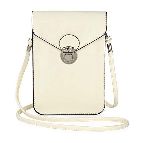 SZCINSEN Bolso cruzado para teléfono celular, bolso cruzado para mujer, bolsa cruzada para teléfono celular, bolsa para teléfono celular (color blanco)