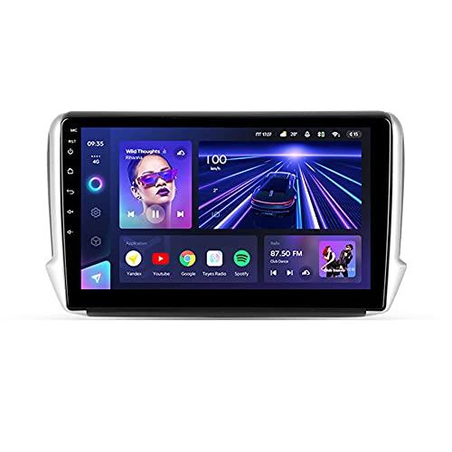 Amimilili CC3 Android 10 Multimedia Video Player Stereo para Peugeot 2008 1 2013-2020 GPS Navegación con Cámara Trasera BT USB WiFi FM Control del Volante DSP 4G Carpaly,8core 4g+WiFi: 4+64g