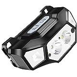LZRDZSWYXGS Linterna LED linterna, 3 tipos de luces, 5 modos, alto brillo impermeables Faros Tasación ajustable, conveniente for caminar, el acampar, al aire libre y Emergencias Adecuado para la lectu