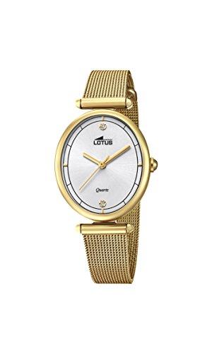 Lotus Watches Reloj Análogo clásico para Mujer de Cuarzo con Correa en Acero Inoxidable 18449/1
