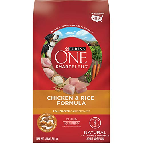 Purina ONE Natural Dry Dog Food, SmartBlend Chicken & Rice Formula - (4) 4 lb. Bags