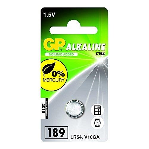 GP Batteries 050189C1 Alkaline Knopfzelle für V10GA / L1130 schwarz