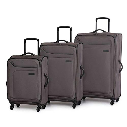 it luggage Megalite 4 Wheel Spinner 3 Piece Luggage Set (Charcoal)